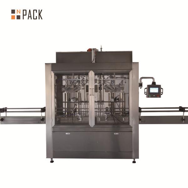 Dvojhlavý pneumatický odmerný piestový stroj na plnenie tekutín