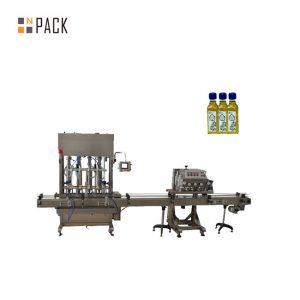 Automatická plniaca kvapalina s objemom 1 až 5 litrov s piestovými fľaškami